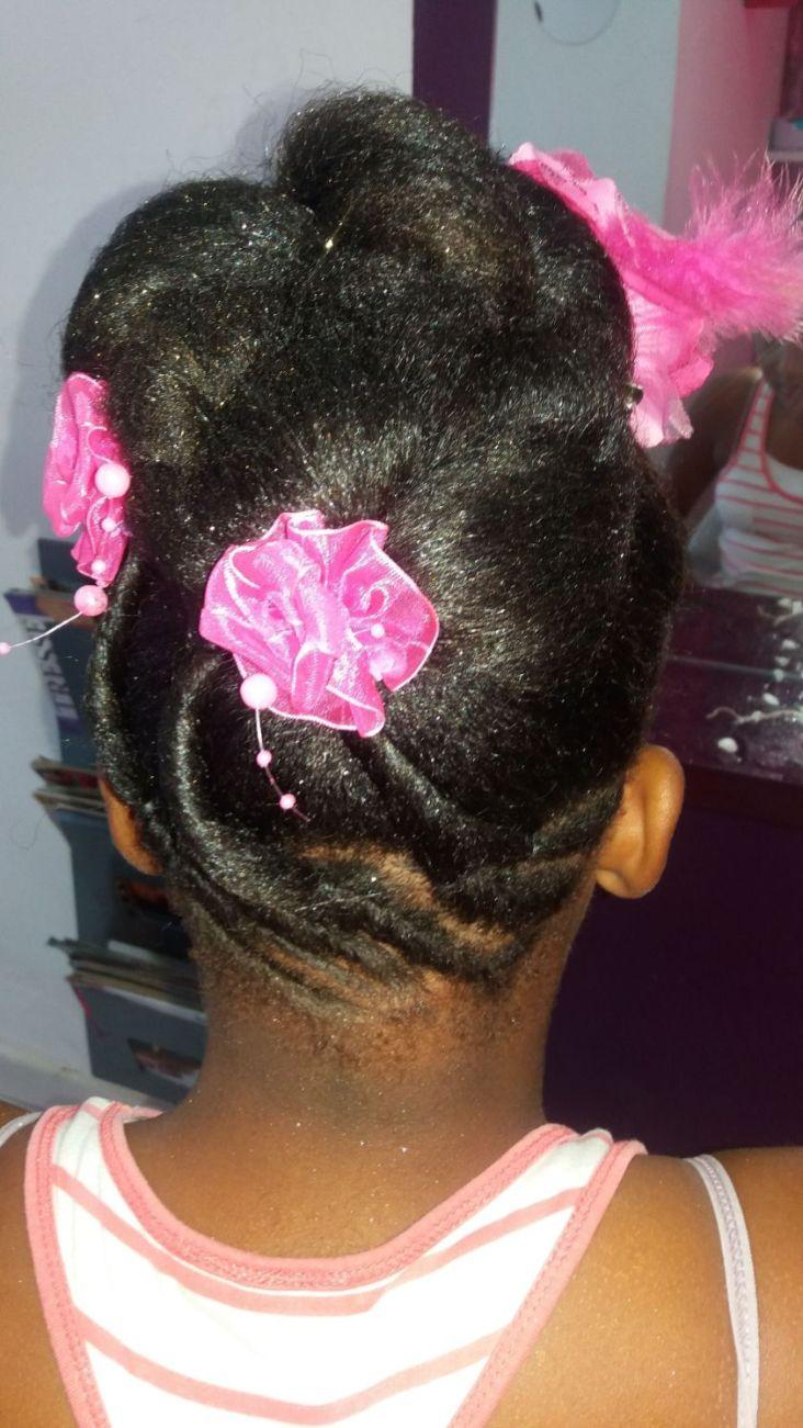 Fabie Dom Hair - Chignon habillé fleurs roses