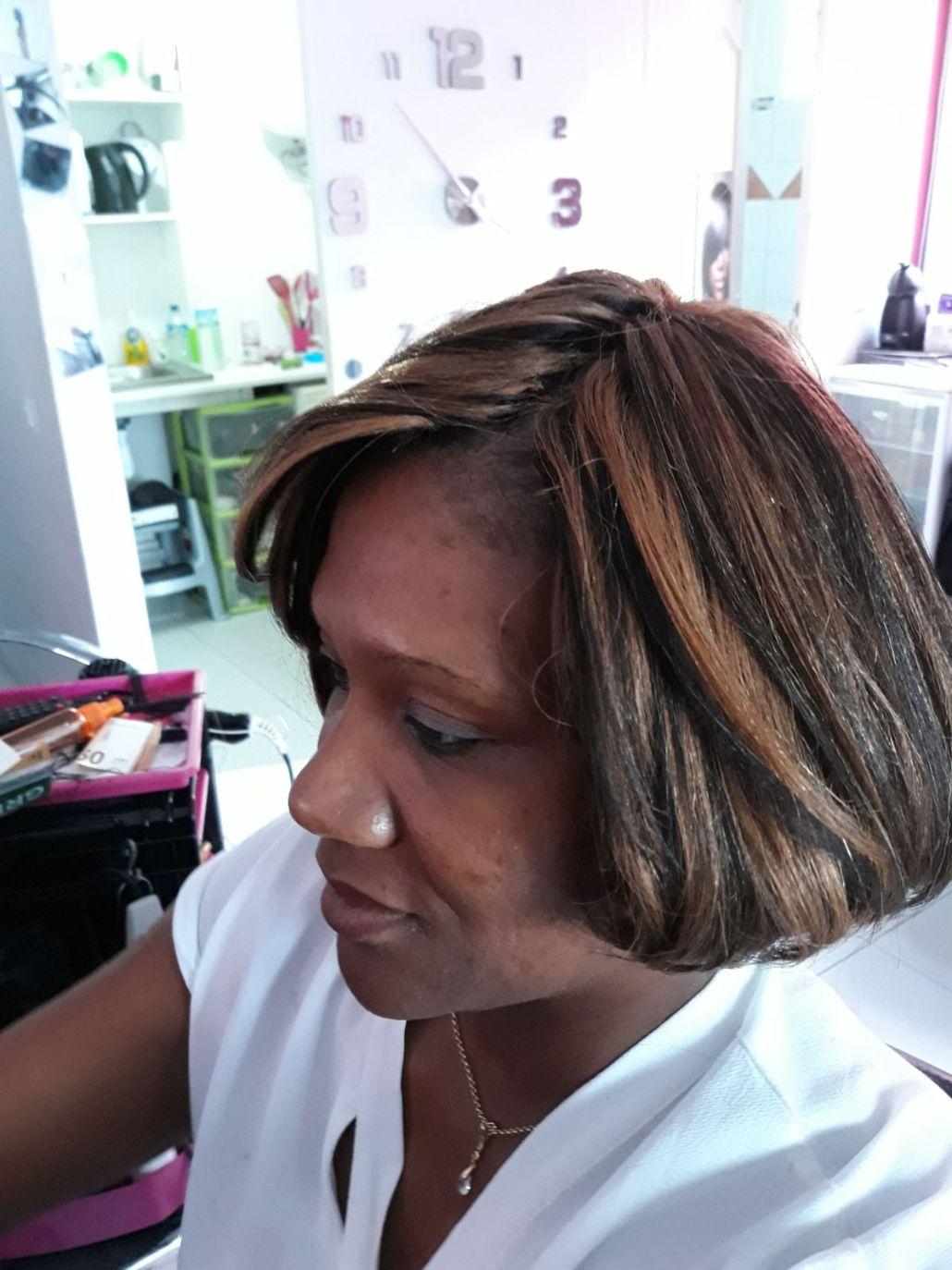 Fabie Dom Hair - Coiffure femme coupe carrée brun