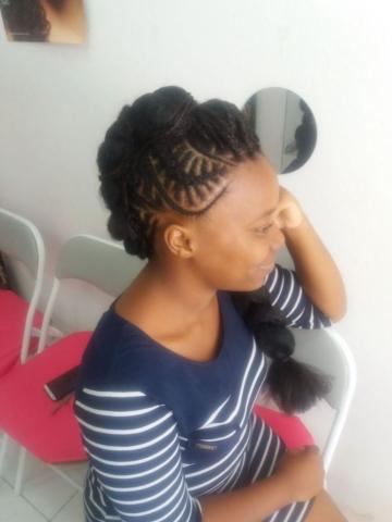 Fabie Dom Hair - Coiffure femme natte Jasmine et tresses