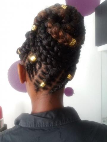 Fabie Dom Hair - Coiffure femme chignon haut tresses